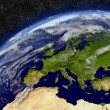 Europe on planet Earth — Stock Photo