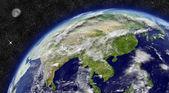 Asia orientale sul pianeta terra — Foto Stock