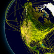 North America connections — Stockfoto