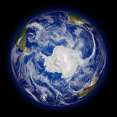 Southern hemisphere on planet Earth — Stock Photo
