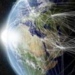 Network over EMEA region — Stock Photo #40436243