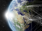 Network over EMEA region — Stock Photo