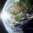 Network over East Asia — Stock Photo