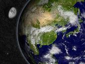 восточная азия на планете земля — Стоковое фото