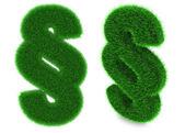 Paragraph symbol made of grass — Stock Photo