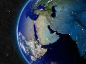 Middle East from space — Stock Photo