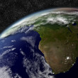 South Africa from space — Stock Photo