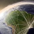 Network over South America — Stock Photo #41507915