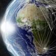 Network over Africa — Stock Photo