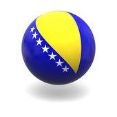 Bosnian flag — Stock Photo