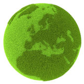 Europe on green planet — Stock Photo