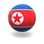 North Korean flag — 图库照片