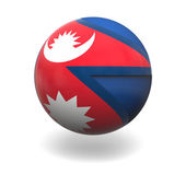 Nepalese flag — Stock Photo