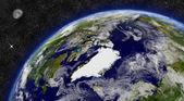 Région de l'Arctique sur la planète Terre — Photo