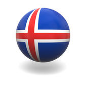 Icelandic flag — Stock Photo