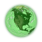 North America on green planet Earth — Stock Photo