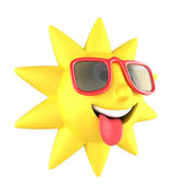 Sun with sunglasses smiling — Stock Photo