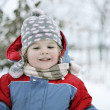 Stock Photo: Winter in childhood