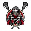 Lacrosse Mascot - Stock Vector