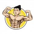 Muscle Buddha — Stock Vector
