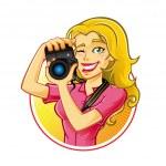 Woman Photographer — Stock Vector