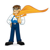 Superhero Geeks Businessman — Vettoriale Stock