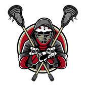 Mascotte di lacrosse — Vettoriale Stock