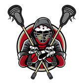 Lacrosse Mascot — Stock Vector