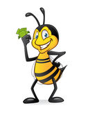 Bee with Money — Vettoriale Stock
