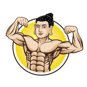 Muscle Buddha — Vector de stock