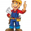 Vector de stock : Construction worker