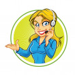 Receptionist Girl - Stock Vector
