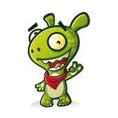 Schattig monster — Stockvector