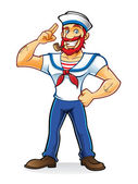 Beard Sailor — Stock Vector