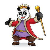 Panda King — Vettoriale Stock