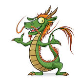 Chinese Dragon — Vettoriale Stock