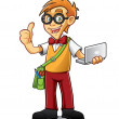 Geeky Boy — Stock Vector