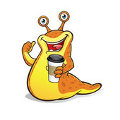 Slug with a Cup of Coffee — Stock Vector