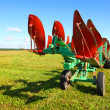 Foto Stock: Tractor on farmer field
