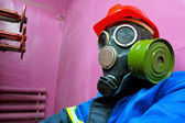 Worker of chemical plant — Stock Photo