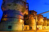 Chemical factory with night illumination — Stock Photo