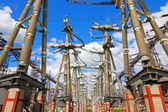 Equipment of high-voltage electric substation — Stock Photo