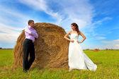 Loving couple on walk — Stock Photo