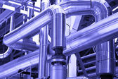 Pipes,tubes,machinery,equipment industrial power — Stock Photo