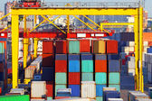 Warehouse of containers in port — Stockfoto