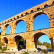 Roman Aqueduct, the Pont Du Gard, France — Stock Photo