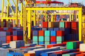 Containers  cargo transportation — Stockfoto