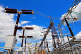 Equipment of electric substation — Stock Photo