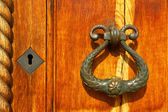 Ancient handle of a door — Stock Photo