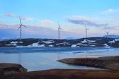 Wind turbines farm. Norway — Stock Photo